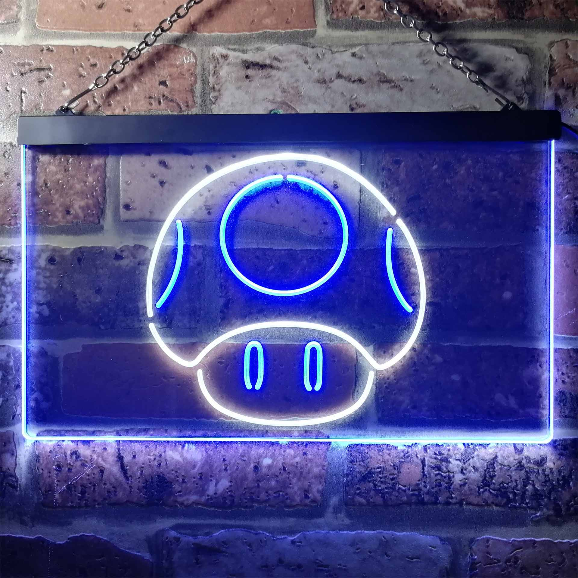 Mario Mushroom Dual Color LED Neon Sign ProLedSign