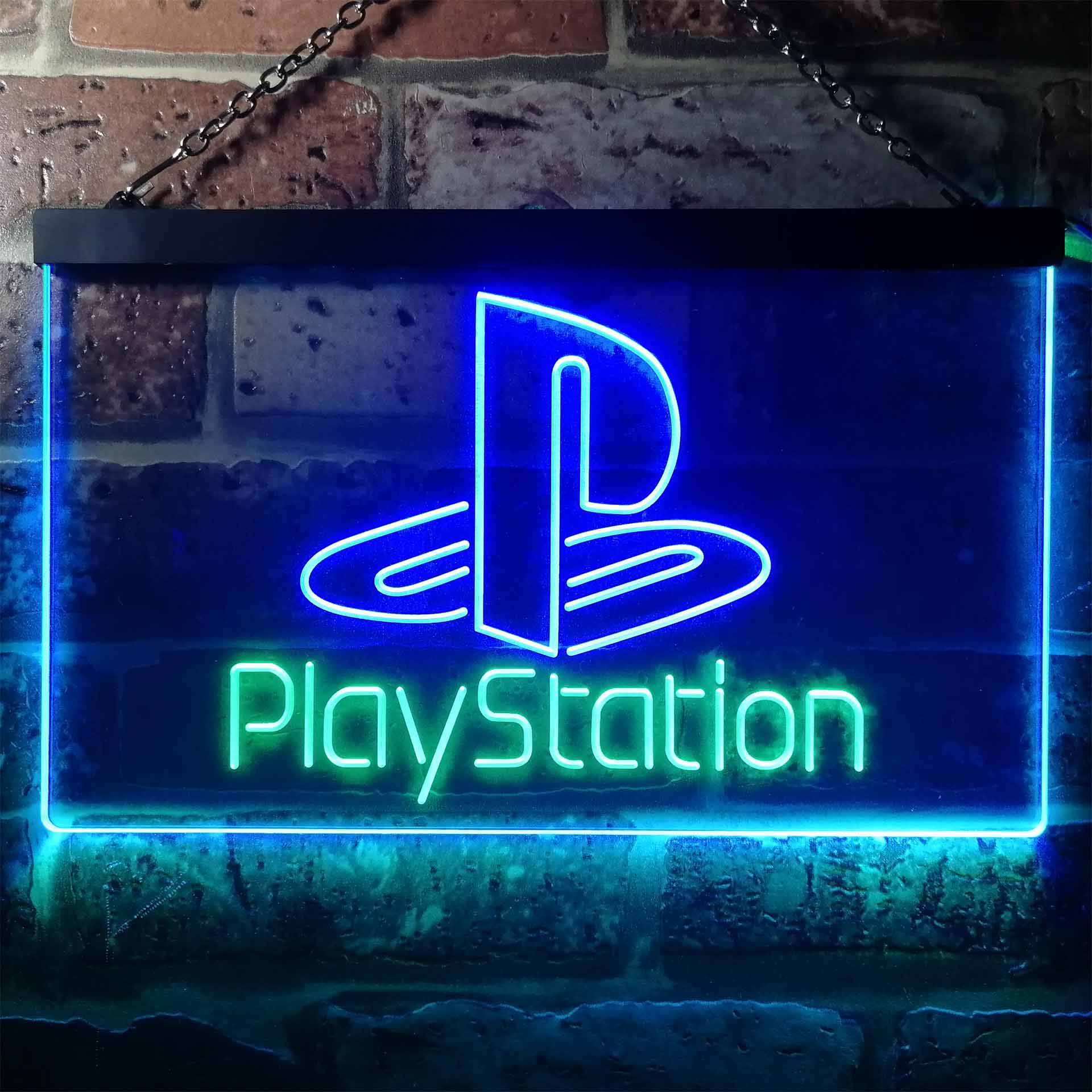 Playstation Game Room Kid Dual Color LED Neon Sign ProLedSign