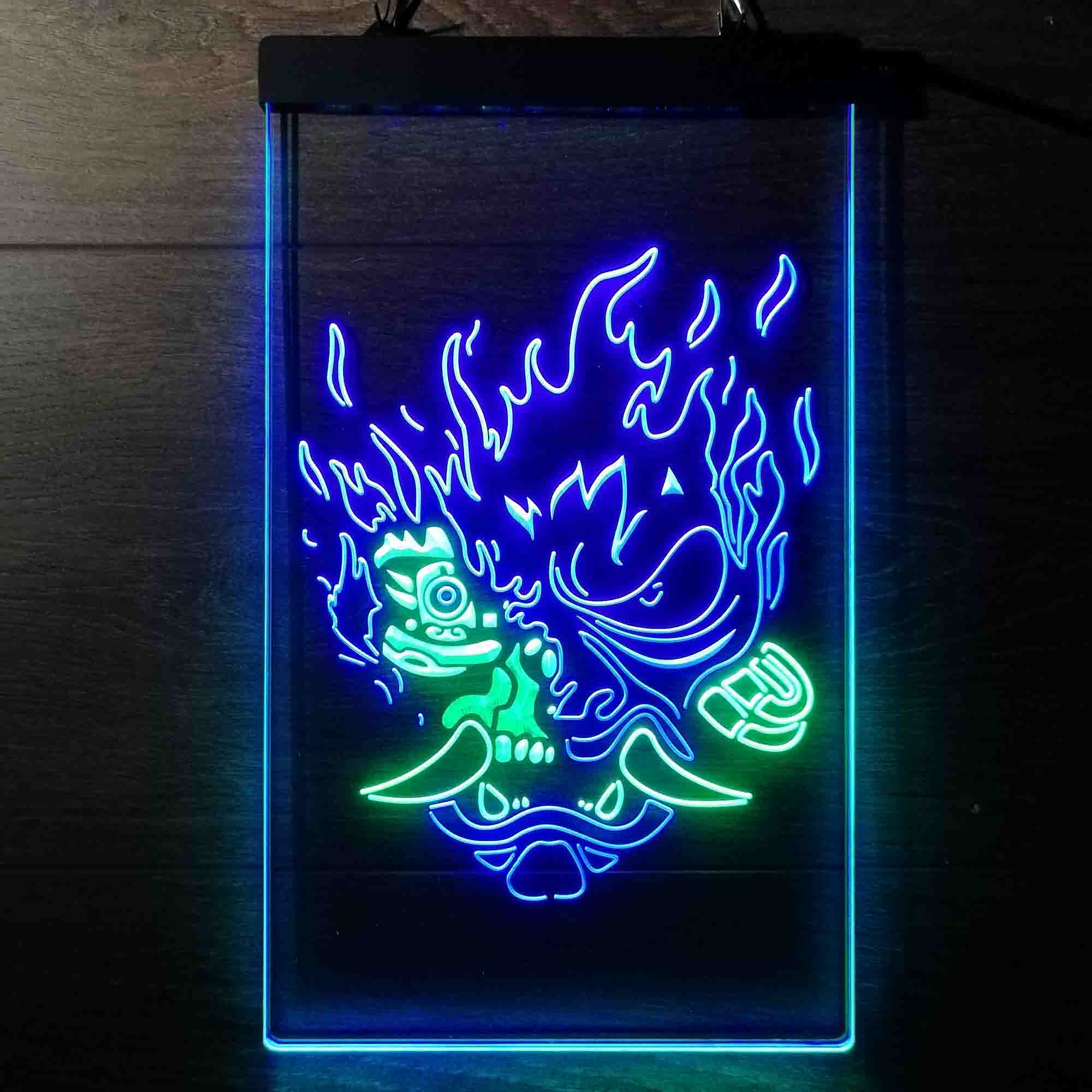 Cyberpunk Samurai Dual Color LED Neon Sign ProLedSign