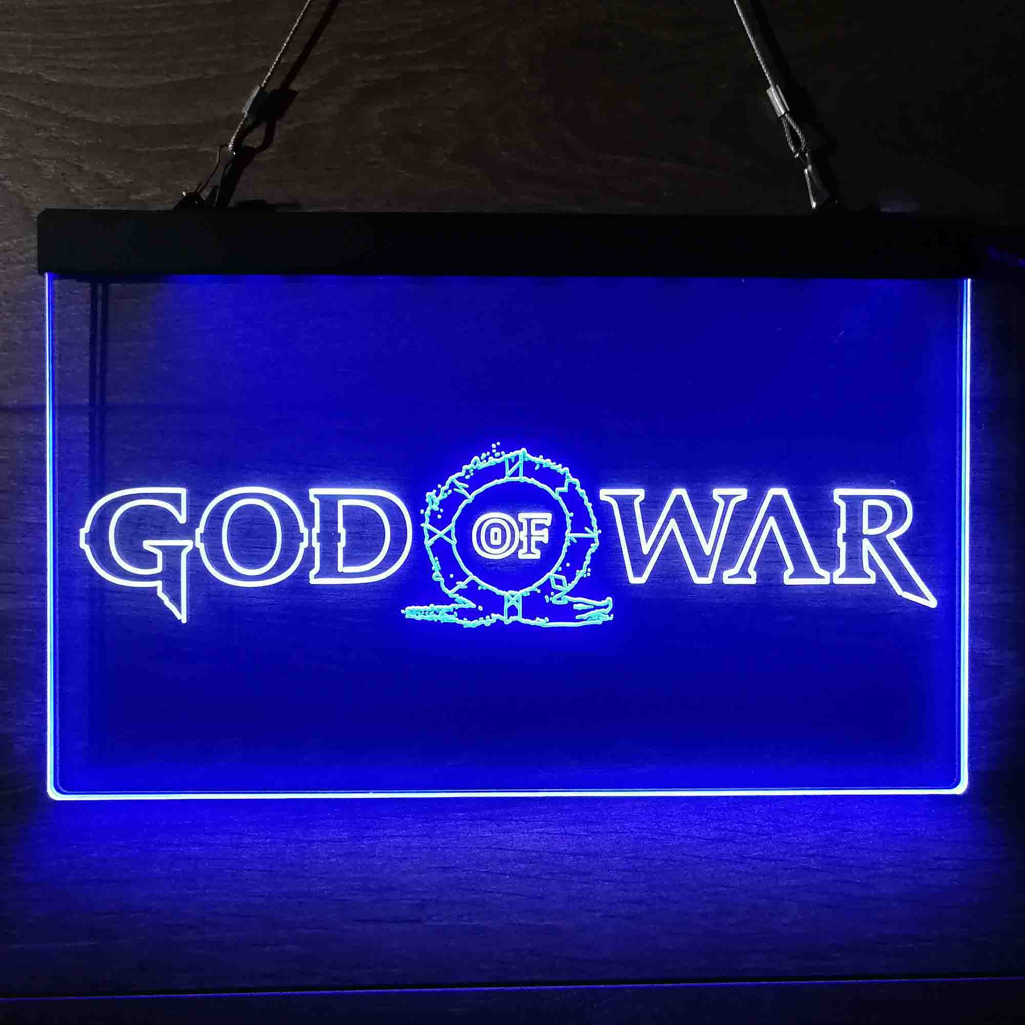 God of War Dual Color LED Neon Sign ProLedSign