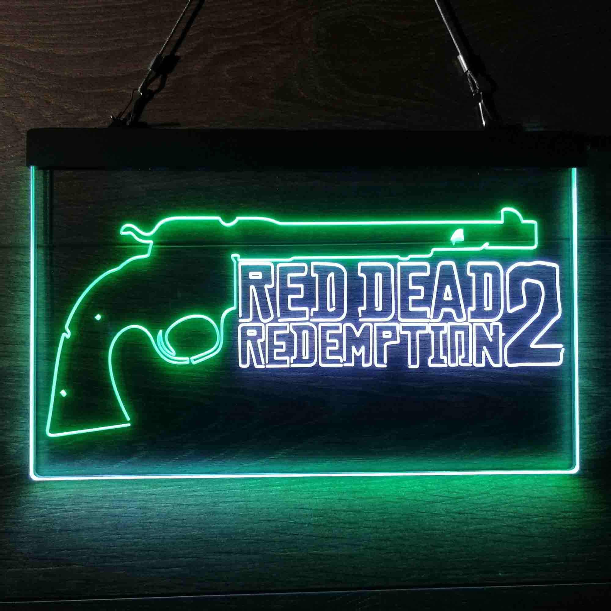 Red Dead Redemption 2 Dual Color LED Neon Sign ProLedSign