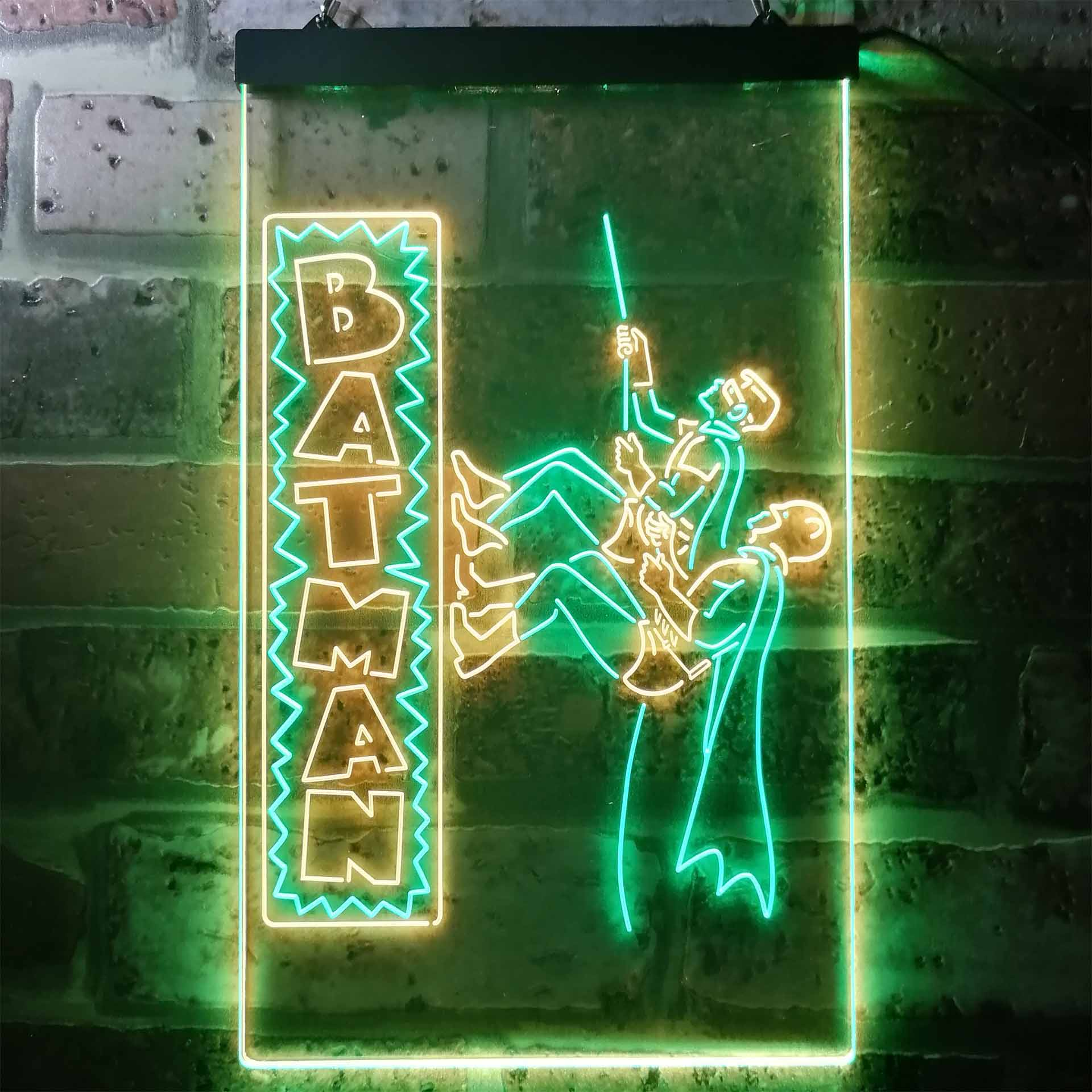 Batman & Robin Dual Color LED Neon Sign ProLedSign