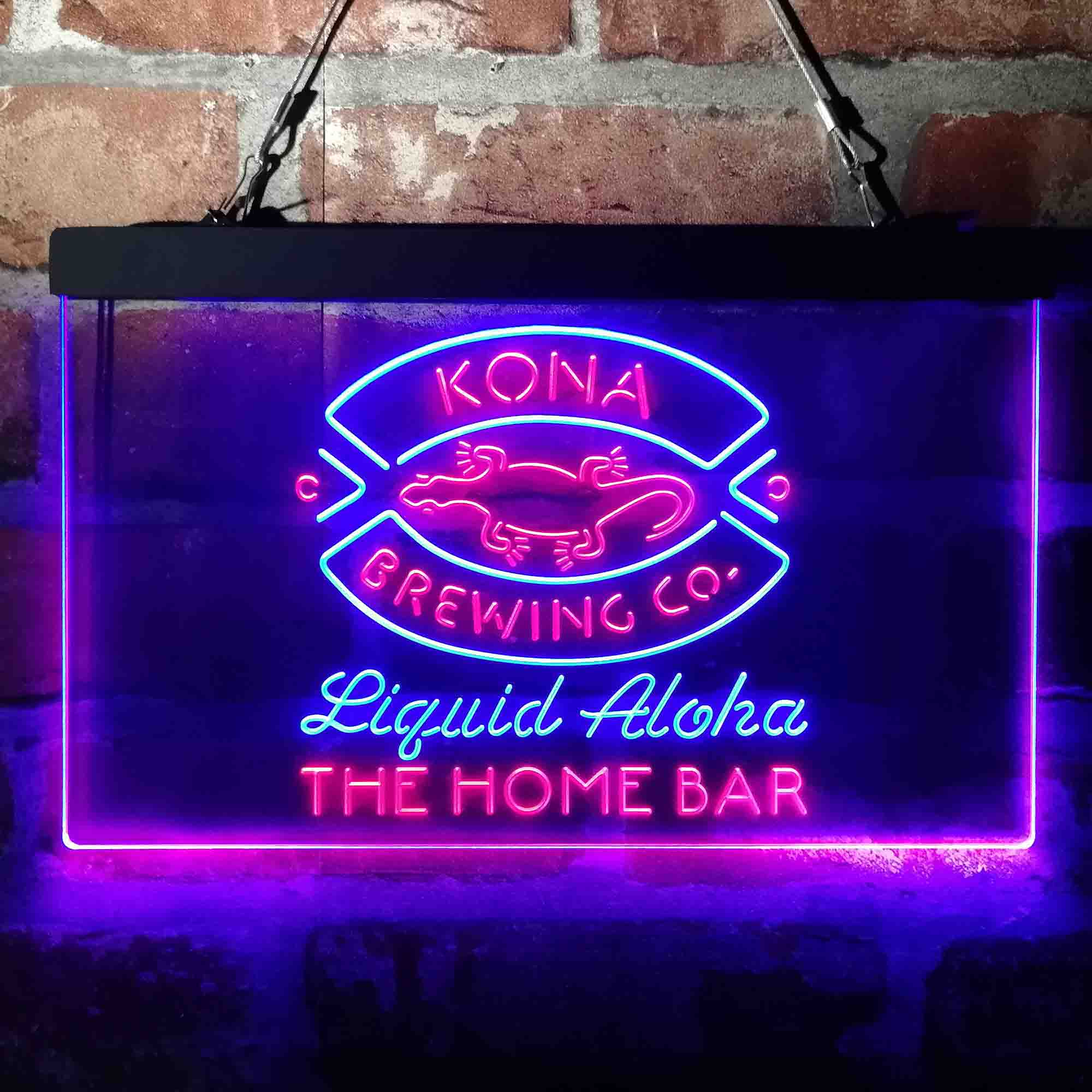 Kona Brewing Company Beer Custom Personalized Neon-Like LED Sign