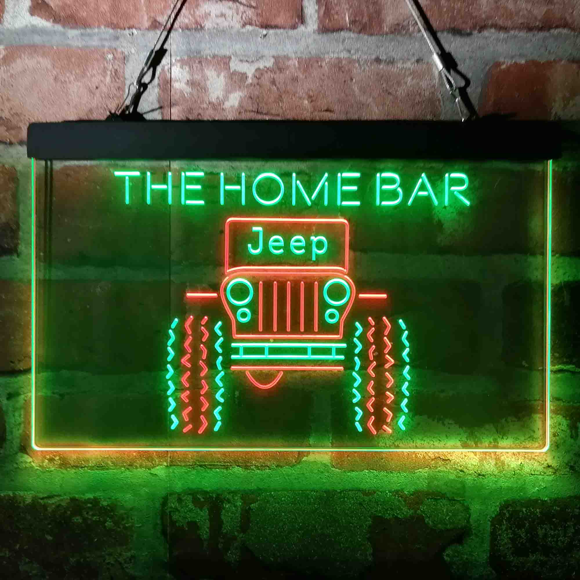 Custom Personalized Only in a Jeep Truck Garage Neon-Like LED Sign