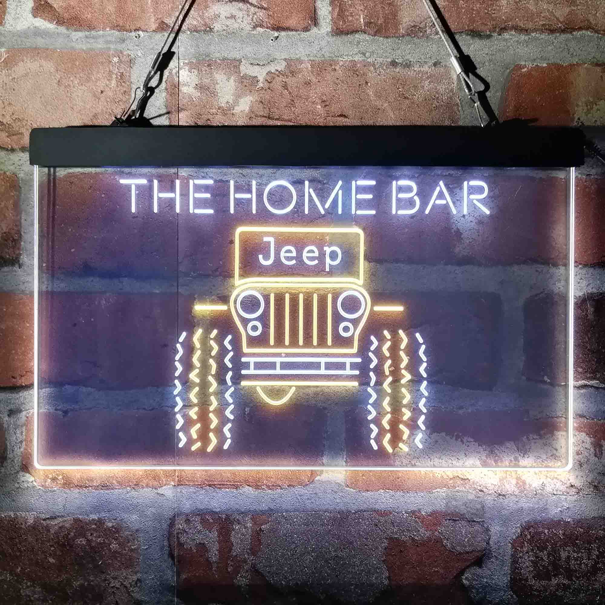 Only in a Jeep Truck Garage Custom Personalized Neon-Like LED Sign