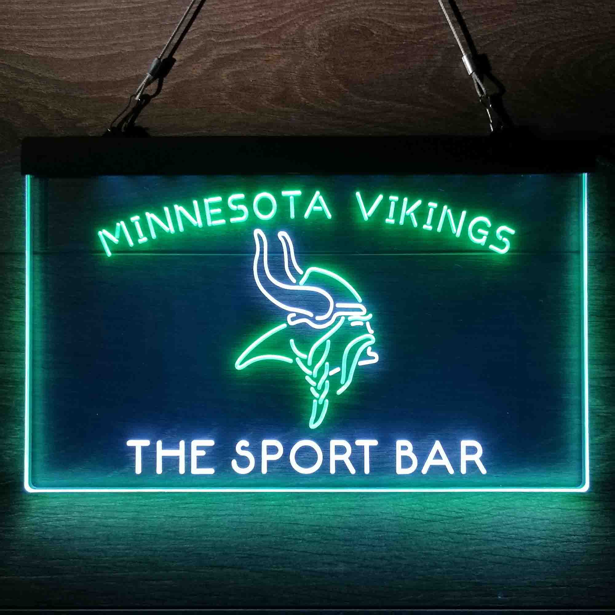 Personalized Custom Minnesota Vikings NFL Football Club Neon-Like LED Sign