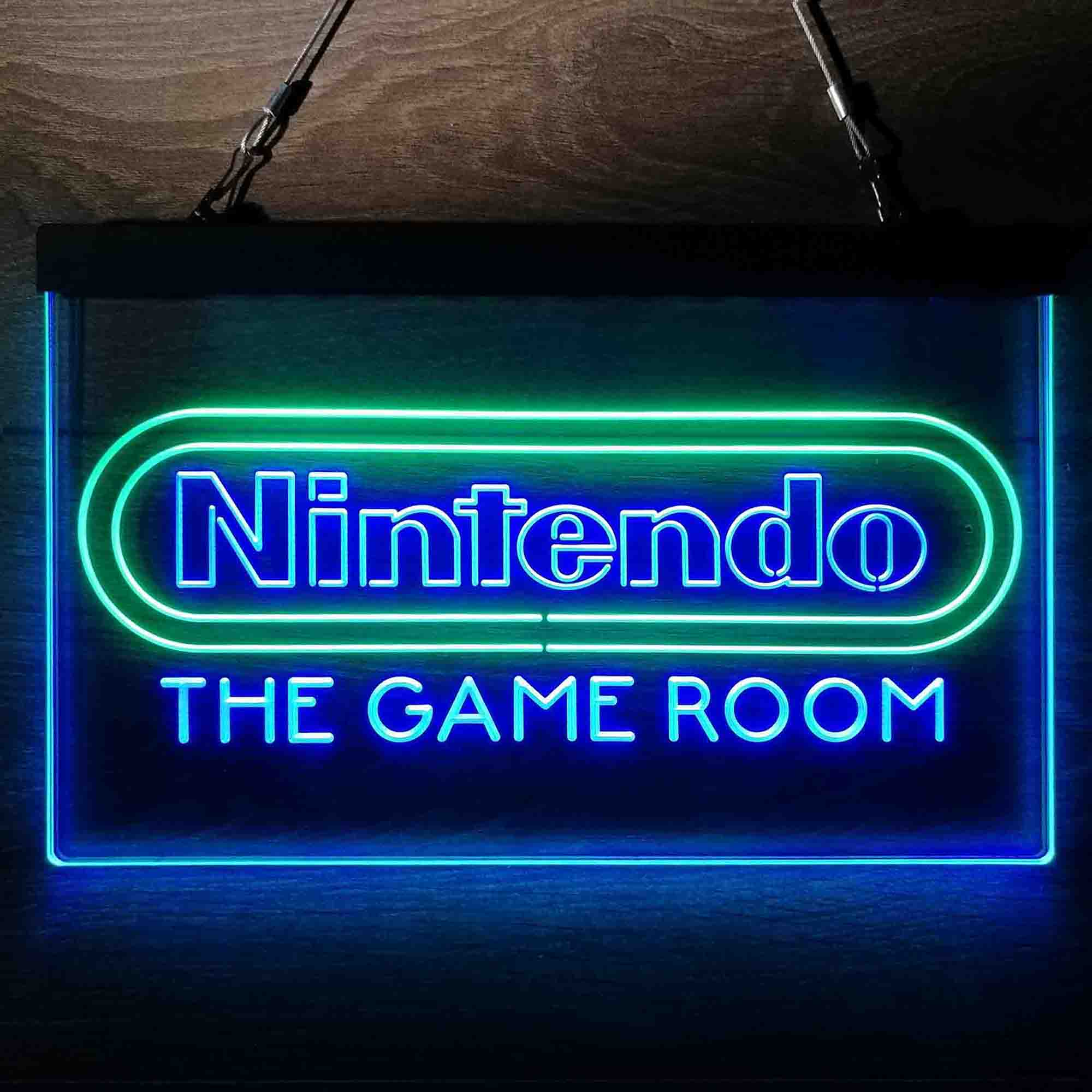 Custom Nintendo Game Room Neon-Like LED Sign