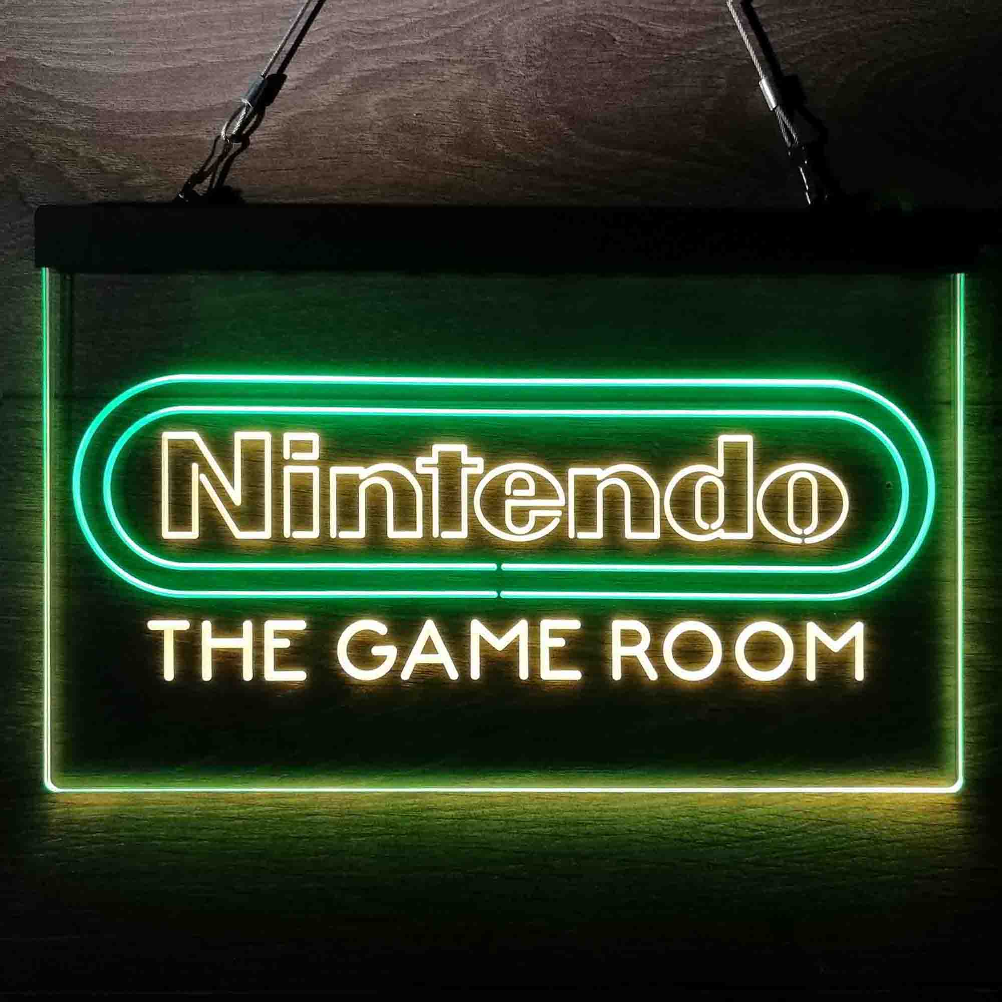 Nintendo Custom Personalized Game Room Neon-Like LED Sign