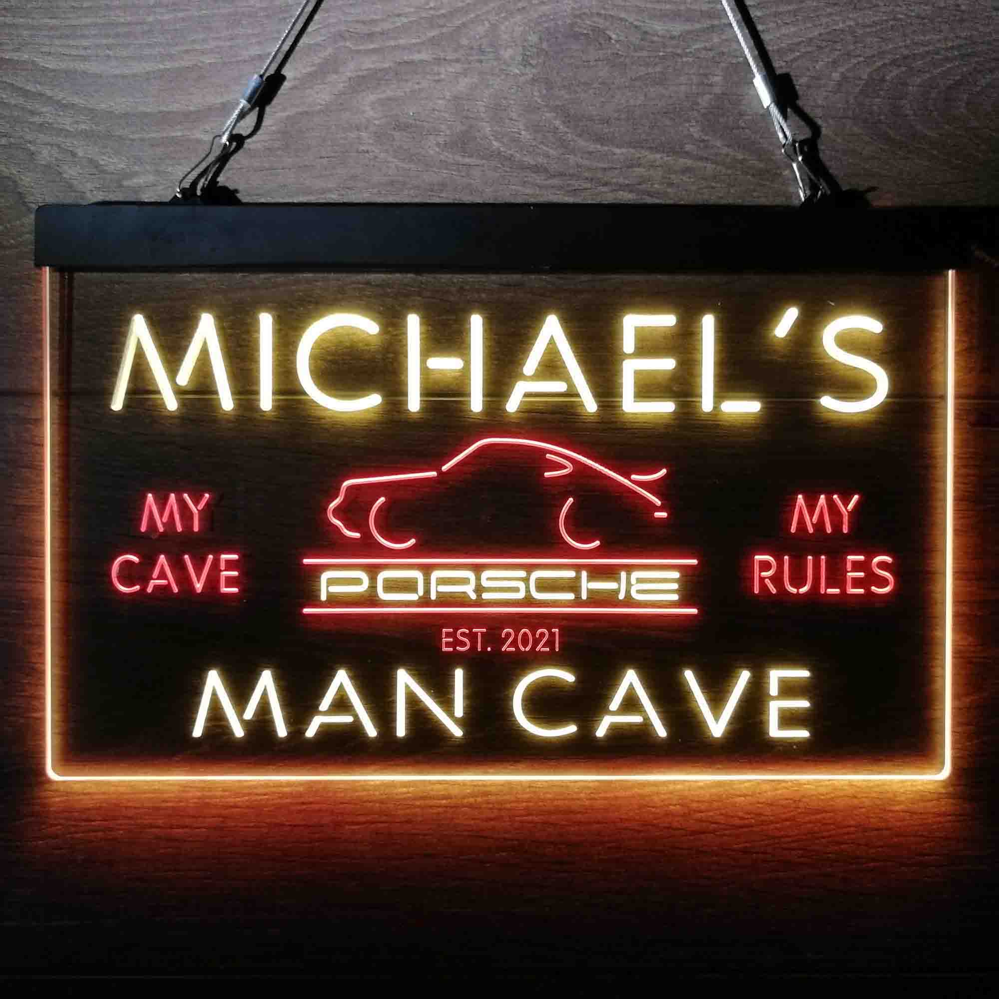 Custom Name Porsche Car Neon-Like LED Sign