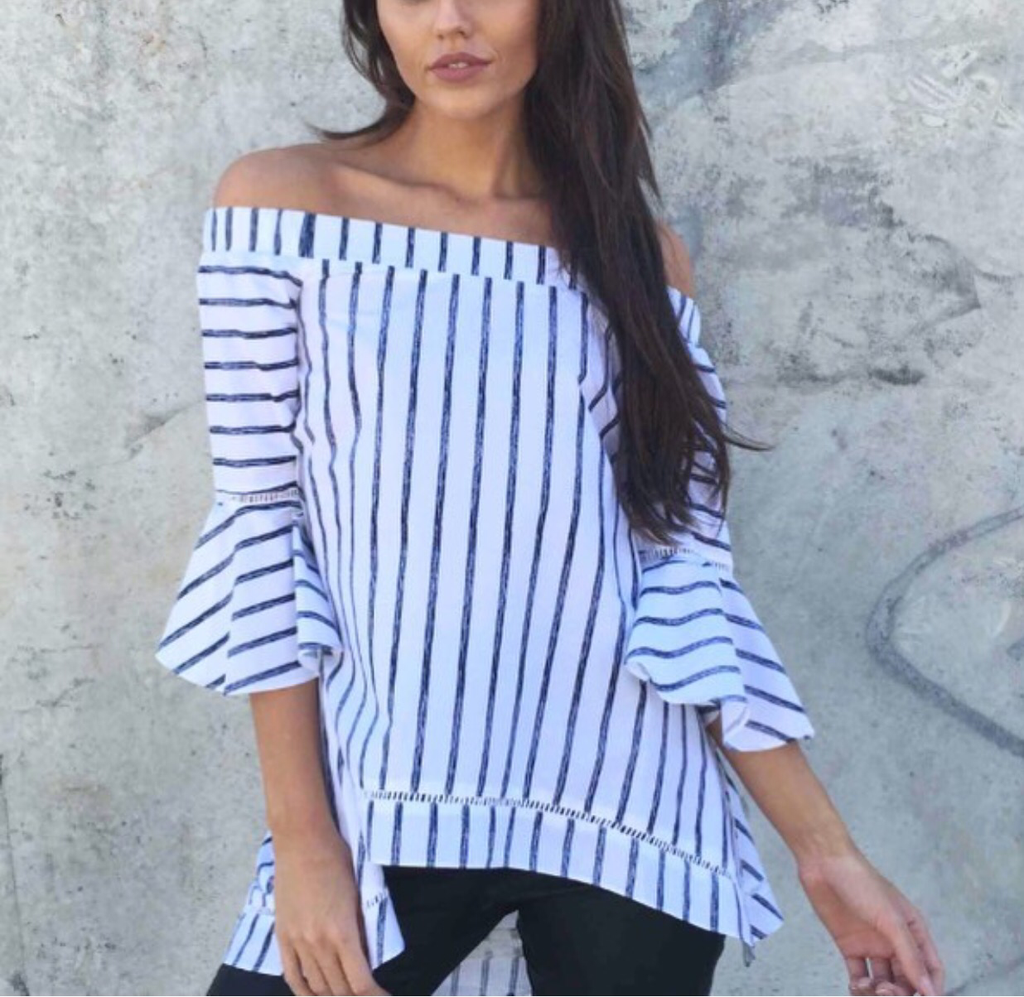 Gloria stripe blouse