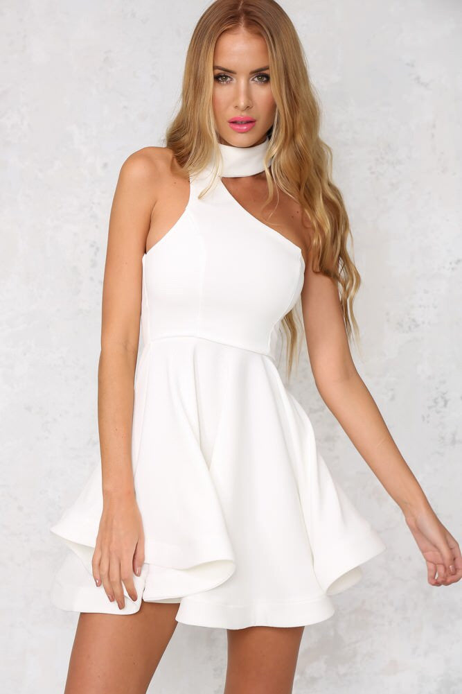 Poly dress available in white and black