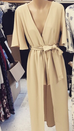 Virgina Beige Maxi Playsuit