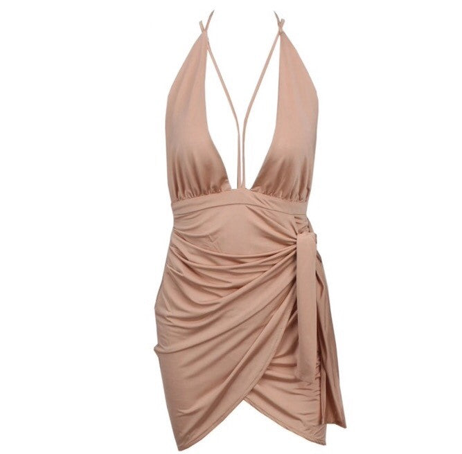 Kirsty beige dress