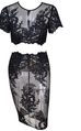 Jesinta black lace top and skirt set