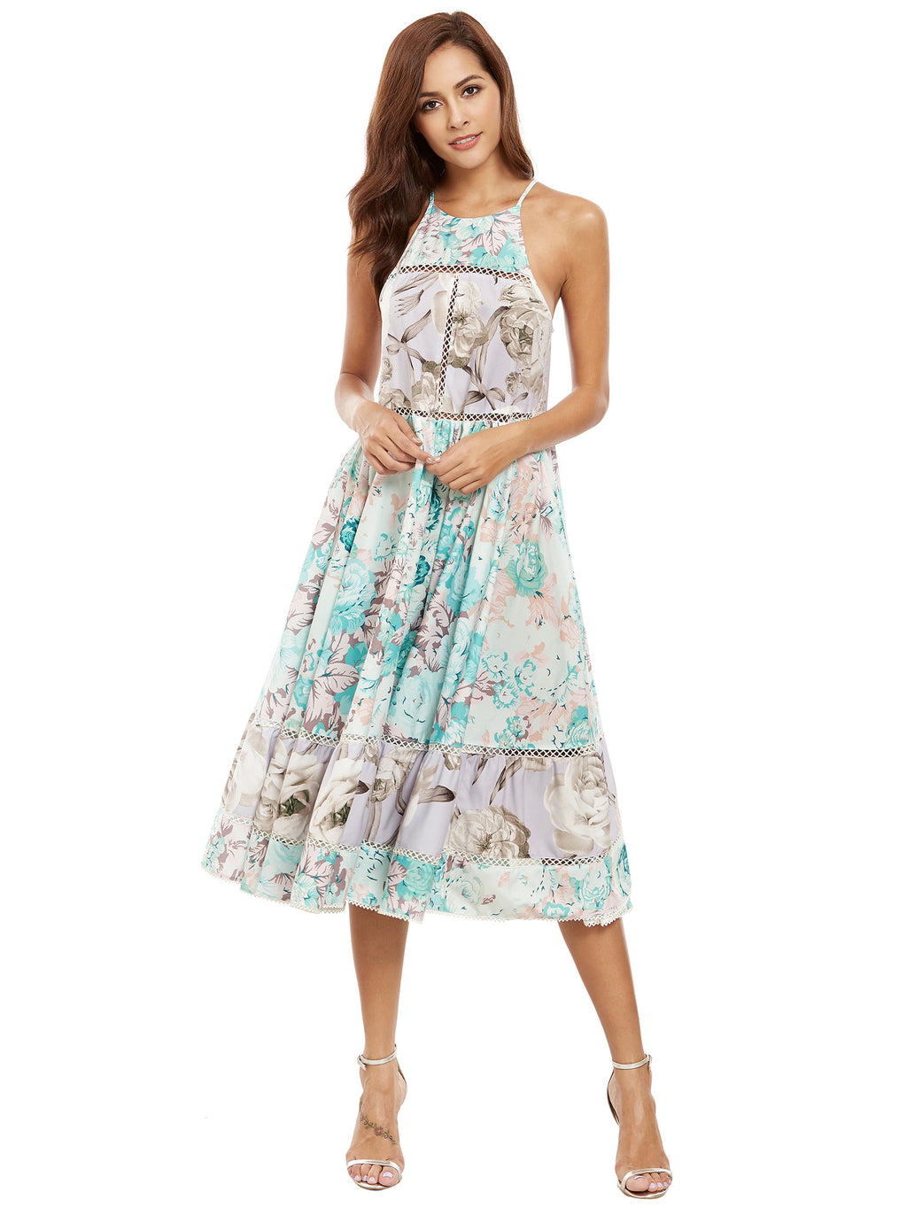 Talulah Green Floral Print Dress