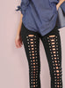 Starley lace up black pants
