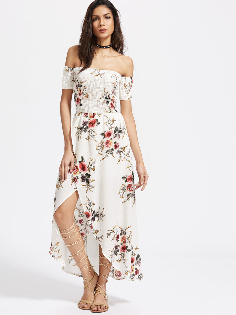 Hold you down floral maxi dress