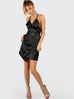 Purpose black asymmetric dress