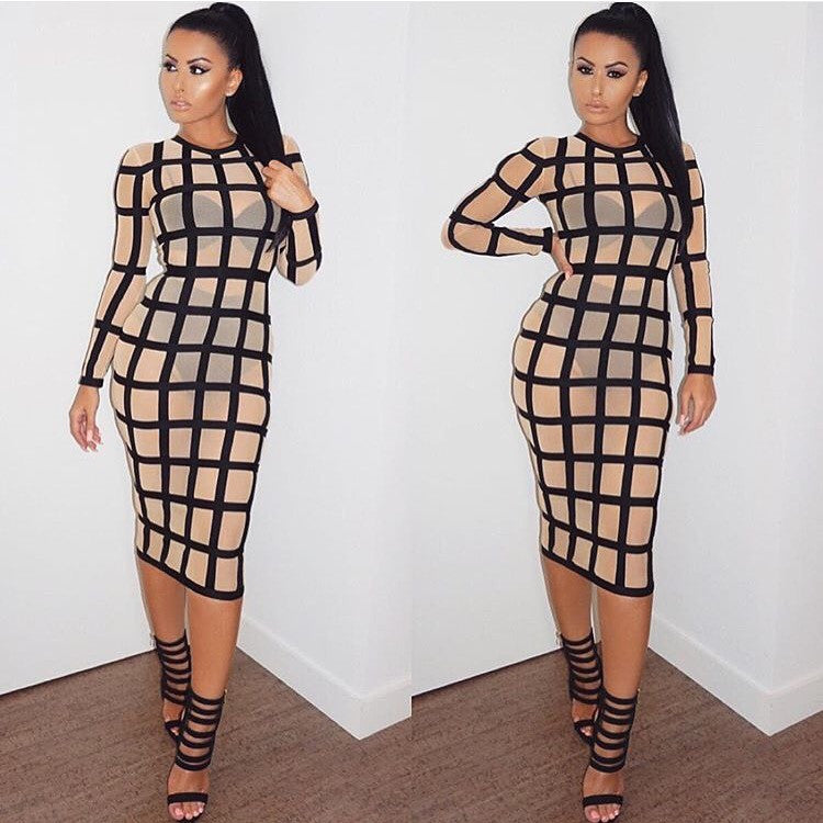 Rezy long sleeve dress
