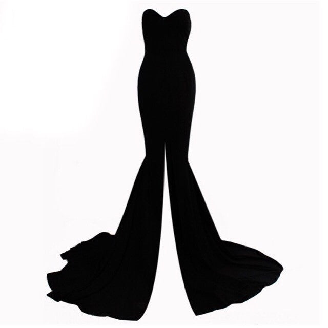 Biva black maxi dress