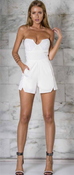 Manhatten White Playsuit
