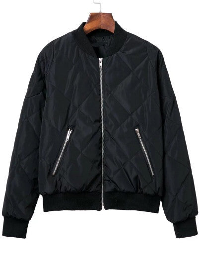 Steph black bomber jacket