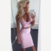 Dally pink top and skirt set