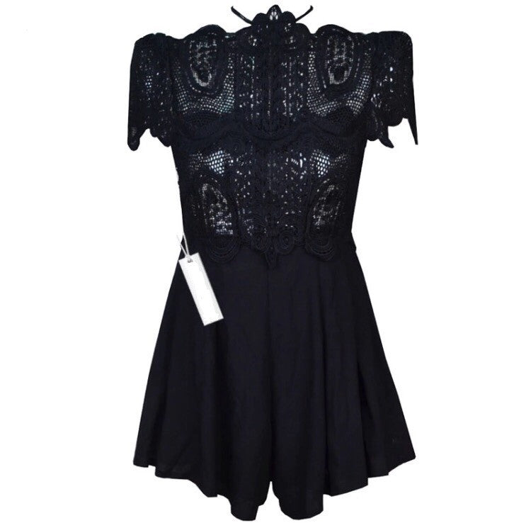 Mercee Black Playsuit