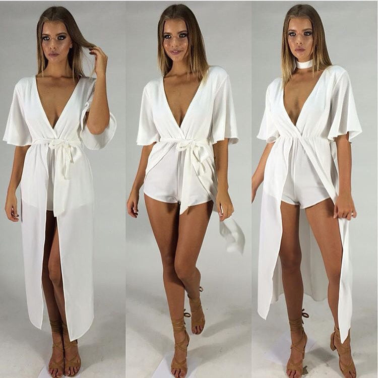 Soho playsuit avail in Black and White