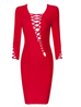 Saint red mid sleeve dress