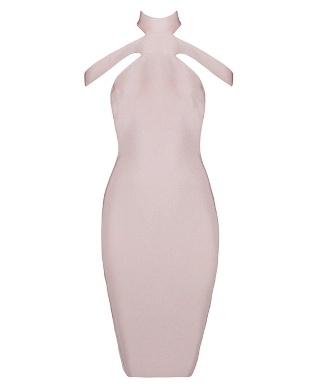 Buckley high neck blush dress