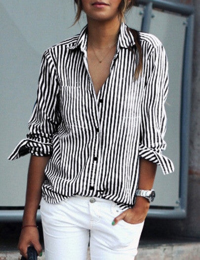 Ralph black stripe shirt
