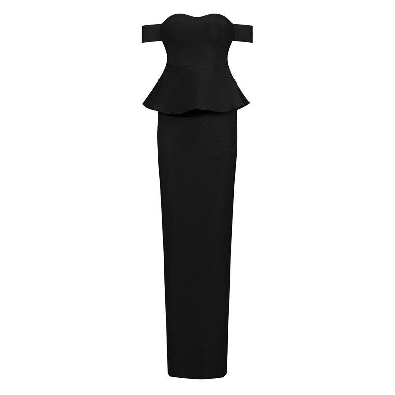 Rosie black off the shoulder maxi dress