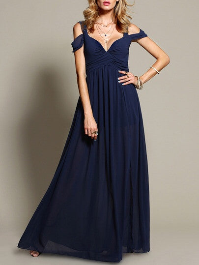 Ohio Navy Blue Maxi Dress