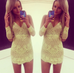 Cosmo Yellow Lace Dress