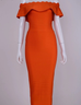 Mayda orange off the shoulder dress