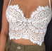 Mantra white lace crop