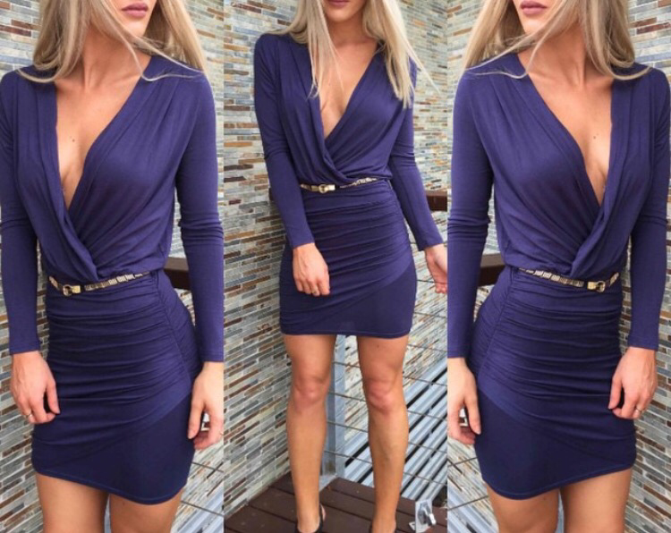Stephanie Navy Dress