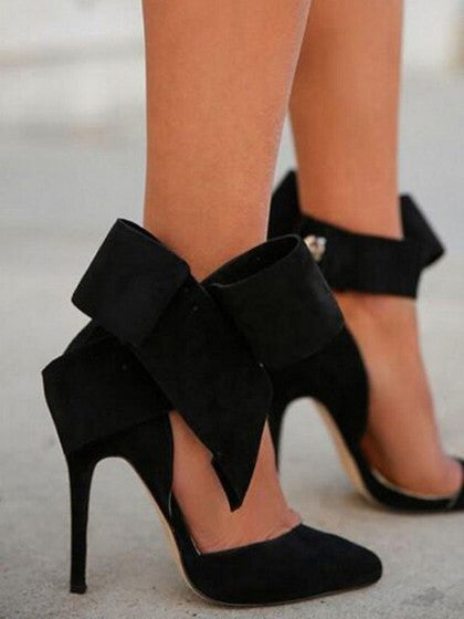 Chyka Black Bow Heels