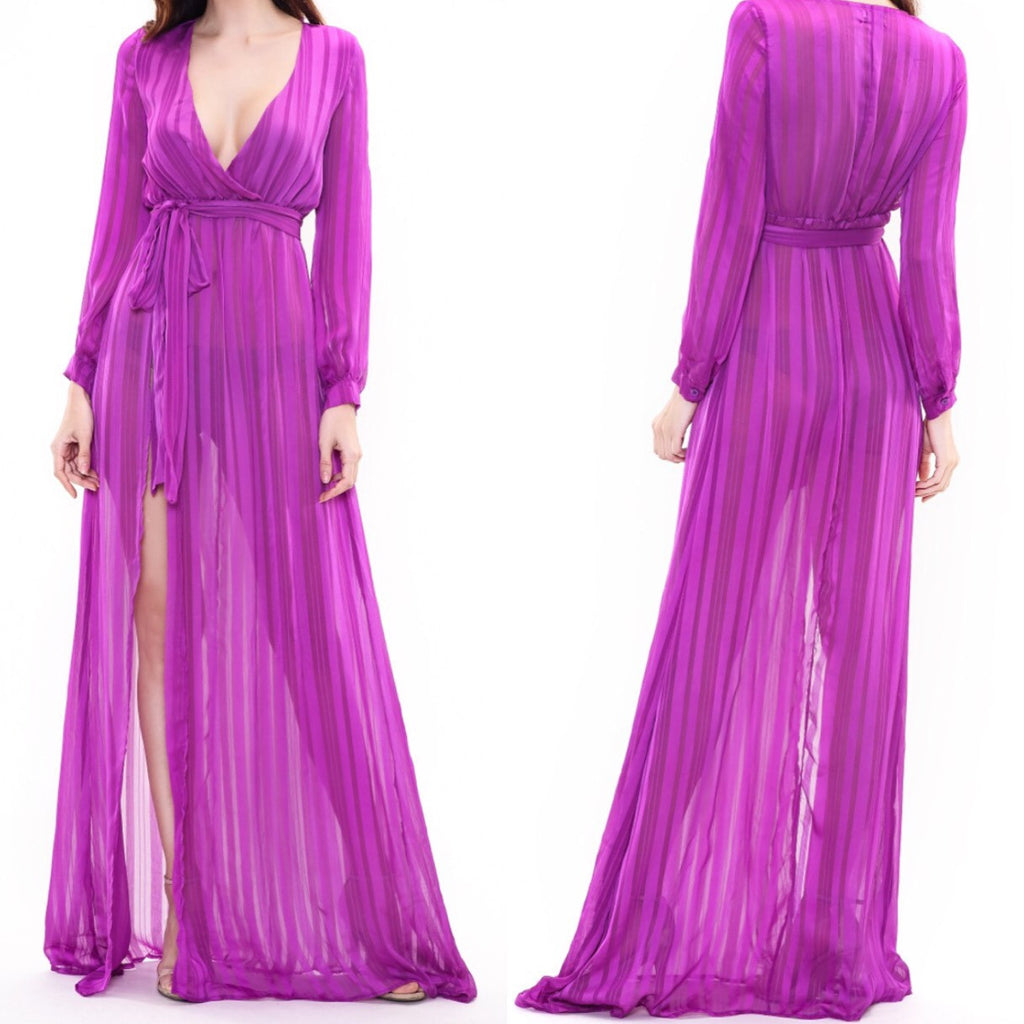 Sophie purple kaftan dress