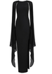 Perry black winged sleeve dress