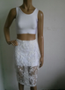Sorrento white top and skirt two piece set