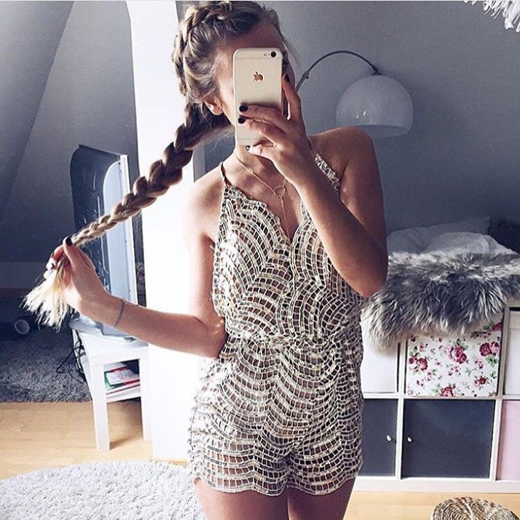 Debi sequin playsuit