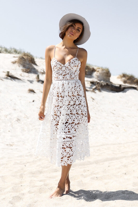 Lucette Lace White Dress