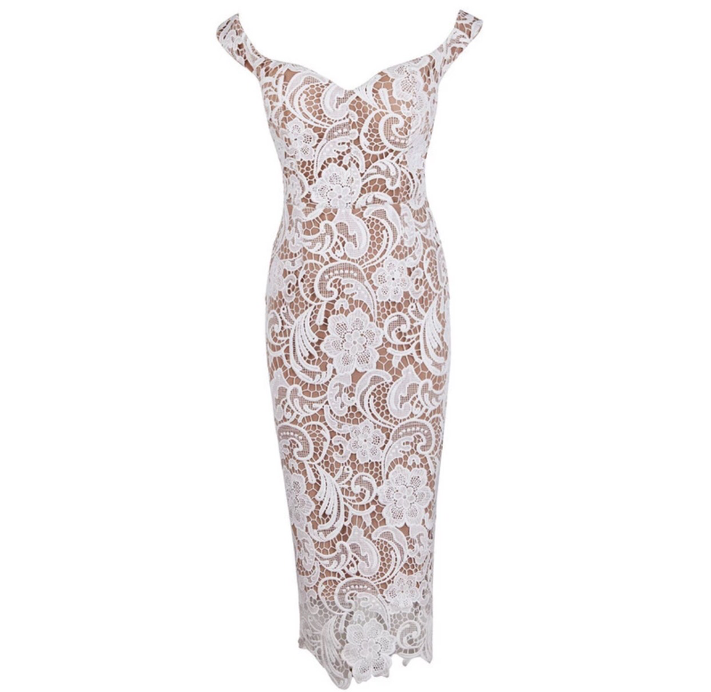 Mariah white lace dress