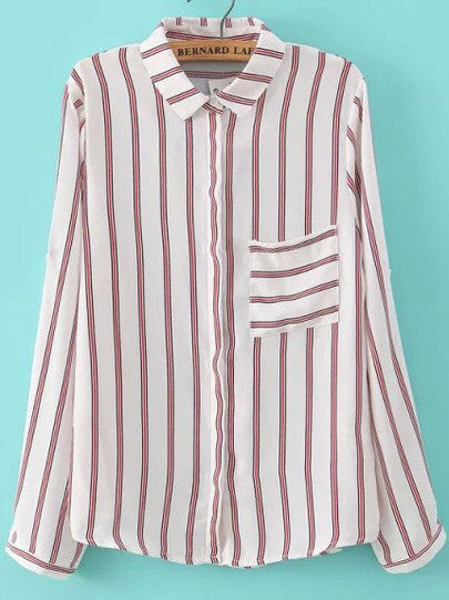 Spitting image stripe top