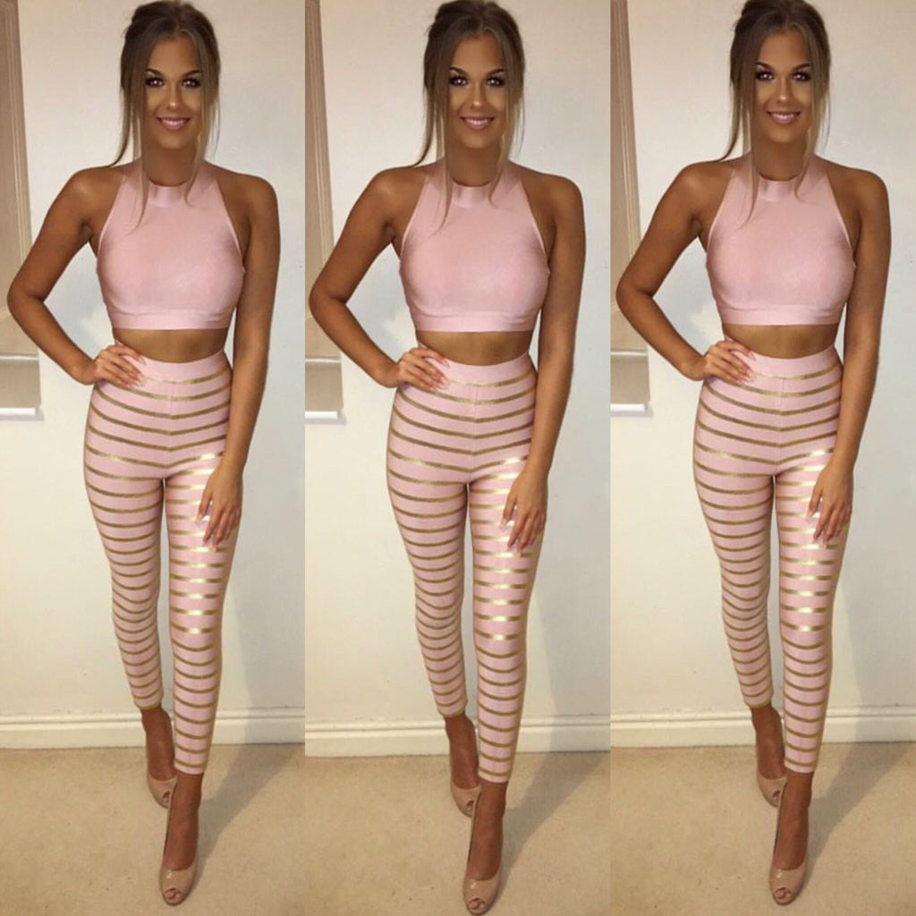 Jaded top and pants set