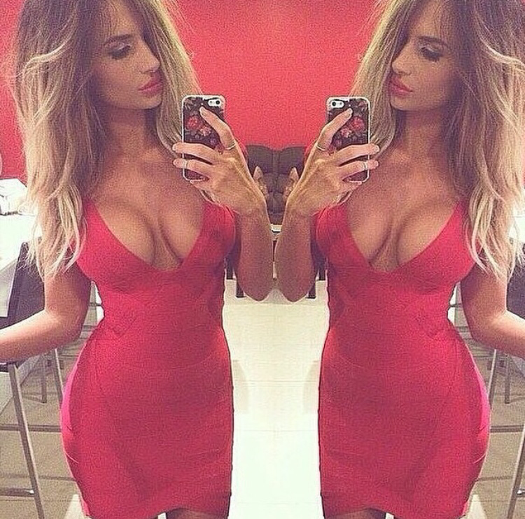 Mystify Red Bandage Dress