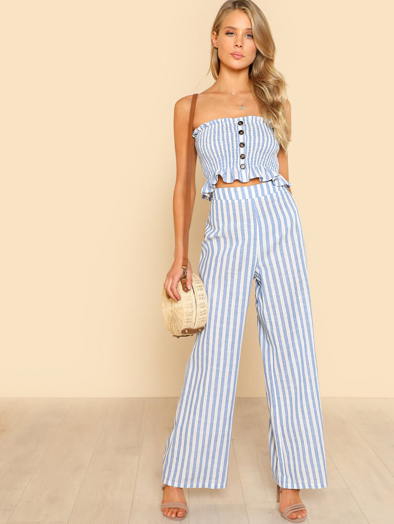 Lola crop top and pant set