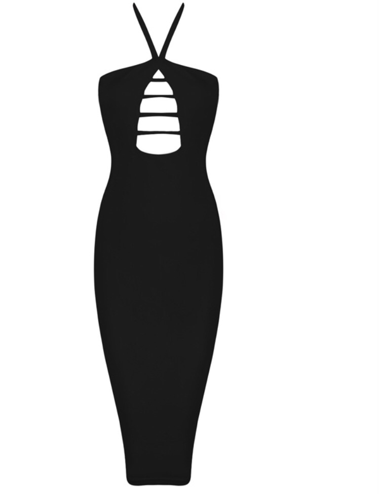 Georgia black bandage dress